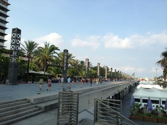 Boulevard Port Olimpic Barcelona