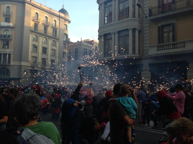 bengalas barcelona Correfoc