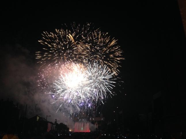 vuurwerk barcelona montjuic