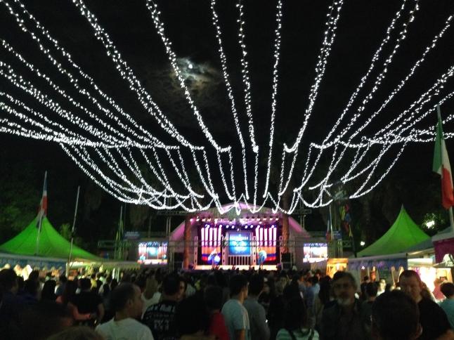 Festival Padro San Sebastian, bij volle maan, sevilla