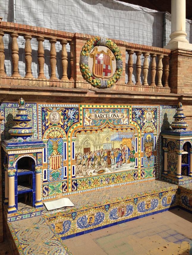 plaza espana sevilla barcelona