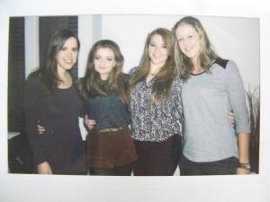 Johanna, Kerry, Anna en ik
