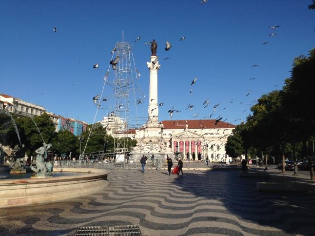 Rossio Square portugal lissabon