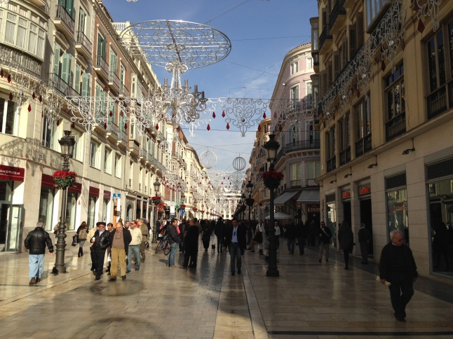 Calle Marqués de Larios, the main street of Malaga