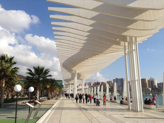 El Muello Uno, de nieuwe wandelboulevard aan de haven van Malaga
