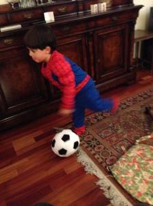 Hij mocht zelfs voetballen in Cristina's kleine flat!