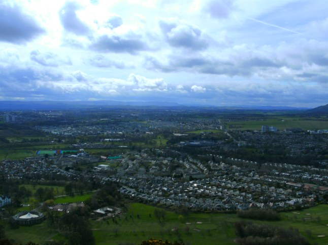 Panoramisch uitzicht over Edinburgh
