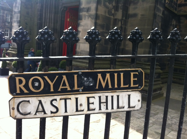 The Royal Mile op Castle Hill edinburgh schotland