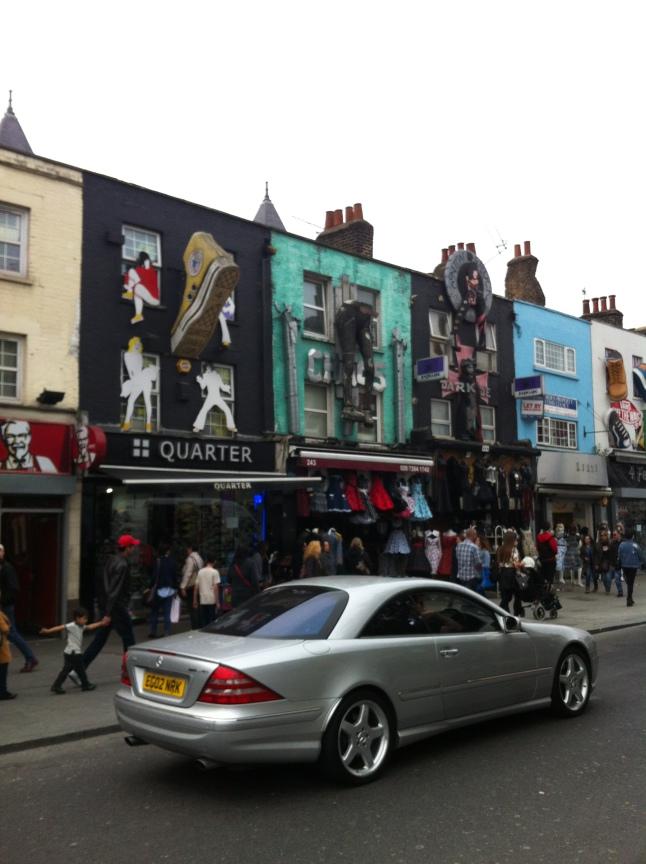 Shops in Camden Town Londen
